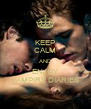 KEEP CALM AND ENJOY VAMPIRE DIARIES - Personalised Poster A4 size