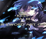 KEEP CALM AND ENTER SWORD ART ONLINE!  - Personalised Poster A4 size