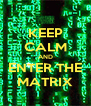 KEEP CALM AND ENTER THE MATRIX - Personalised Poster A4 size