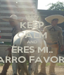 KEEP CALM AND ERES MI.. CHARRO FAVORITO - Personalised Poster A4 size