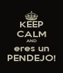 KEEP CALM AND eres un PENDEJO! - Personalised Poster A4 size