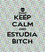 KEEP CALM AND ESTUDIA BITCH - Personalised Poster A4 size