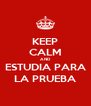 KEEP CALM AND ESTUDIA PARA LA PRUEBA - Personalised Poster A4 size