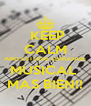 KEEP CALM AND ESTUDIE LENGUAJE MUSICAL  MAS BIEN!! - Personalised Poster A4 size
