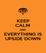 KEEP CALM AND EVERYTHING IS UPSIDE DOWN - Personalised Poster A4 size
