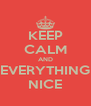 KEEP CALM AND EVERYTHING NICE - Personalised Poster A4 size