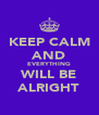 KEEP CALM AND EVERYTHING WILL BE ALRIGHT - Personalised Poster A4 size