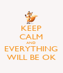 KEEP CALM AND EVERYTHING WILL BE OK - Personalised Poster A4 size