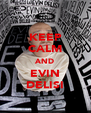 KEEP CALM AND EVIN DELISI - Personalised Poster A4 size