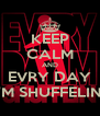 KEEP CALM AND EVRY DAY I'M SHUFFELIN' - Personalised Poster A4 size