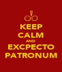 KEEP CALM AND EXCPECTO PATRONUM - Personalised Poster A4 size