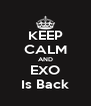 KEEP CALM AND EXO Is Back - Personalised Poster A4 size