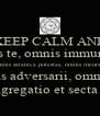 KEEP CALM AND Exorcizamus te, omnis immundus spiritus omnis satanica potestas, omnis incursio infernalis adversarii, omnis legio, omnis congregatio et secta diabolica. - Personalised Poster A4 size