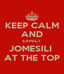 KEEP CALM AND EXPECT JOMESILI  AT THE TOP - Personalised Poster A4 size