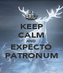 KEEP CALM AND EXPECTO PATRONUM - Personalised Poster A4 size