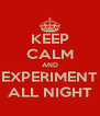 KEEP CALM AND EXPERIMENT ALL NIGHT - Personalised Poster A4 size