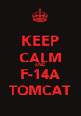 KEEP CALM AND F-14A TOMCAT - Personalised Poster A4 size