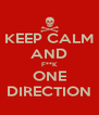 KEEP CALM AND F**K ONE DIRECTION - Personalised Poster A4 size