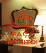 KEEP CALM AND FAÇA BONITO! - Personalised Poster A4 size