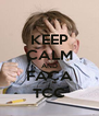 KEEP CALM AND FAÇA TCC - Personalised Poster A4 size