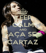 KEEP CALM AND FAÇA SEU CARTAZ - Personalised Poster A4 size
