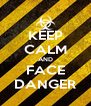 KEEP CALM AND FACE DANGER - Personalised Poster A4 size