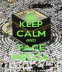 KEEP CALM AND FACE MECCA - Personalised Poster A4 size