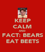 KEEP CALM AND FACT: BEARS EAT BEETS - Personalised Poster A4 size