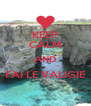 KEEP CALM AND FAI LE VALIGIE  - Personalised Poster A4 size