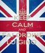 KEEP CALM AND  FAI ORDINE LUIGINO  - Personalised Poster A4 size
