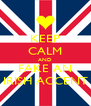 KEEP CALM AND FAKE AN IRISH ACCENT - Personalised Poster A4 size