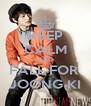 KEEP CALM AND FALL FOR  JOONG KI - Personalised Poster A4 size