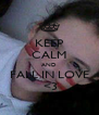 KEEP CALM AND FALL IN LOVE  <3 - Personalised Poster A4 size