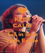 KEEP CALM AND fall in love with Eddie - Personalised Poster A4 size