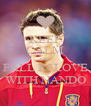 KEEP CALM AND FALL IN LOVE WITH NANDO - Personalised Poster A4 size