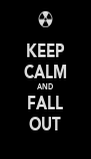 KEEP CALM AND FALL OUT - Personalised Poster A4 size