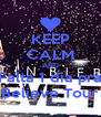 KEEP CALM AND Falta 1 dia pra Believe Tour - Personalised Poster A4 size