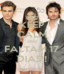 KEEP CALM AND FALTAM 17 DIAS ! - Personalised Poster A4 size