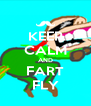 KEEP CALM AND FART FLY - Personalised Poster A4 size