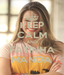 KEEP CALM AND FATINHA MANDA - Personalised Poster A4 size