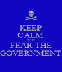 KEEP CALM AND FEAR THE GOVERNMENT - Personalised Poster A4 size