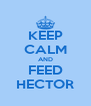 KEEP CALM AND FEED HECTOR - Personalised Poster A4 size
