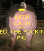 KEEP CALM AND FEED THE FUCKING PIG - Personalised Poster A4 size