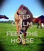 KEEP CALM AND FEED THE HORSE - Personalised Poster A4 size