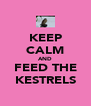 KEEP CALM AND FEED THE KESTRELS - Personalised Poster A4 size