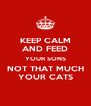 KEEP CALM   AND FEED   YOUR SONS NOT THAT MUCH YOUR CATS - Personalised Poster A4 size