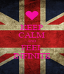 KEEP CALM AND FEEL INFINITE - Personalised Poster A4 size