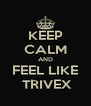 KEEP CALM AND FEEL LIKE  TRIVEX - Personalised Poster A4 size