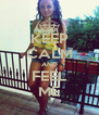 KEEP CALM AND FEEL ME - Personalised Poster A4 size