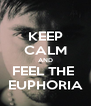 KEEP CALM AND FEEL THE  EUPHORIA - Personalised Poster A4 size